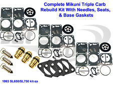 Polaris Mikuni Carburetor Rebuild Kit-Needle/Seat Carb Base Gasket SL 650 750