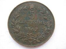 Italie 1867-m 5 centesimi, GVF.