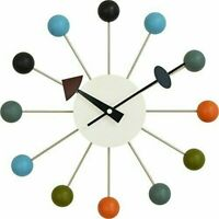 Wall clock pop color Mid Century Northern Europe 33cm Multi Color Regular Inport