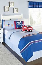 KAS DESIGNS KIDS HEROES 2PC SET, 1 TWIN DUVET & 1 STANDARD SHAM REVERSIBLE