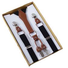 4 Clip Men's Suspenders Elastic Adjustable Pants Straps Men Braces Supports