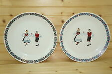 Figgjo Norway Hardanger Dancers (2) Dinner Plates, 9 5/8""