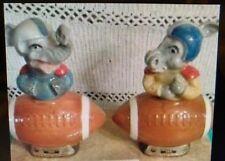 1972 Beam Republican Elephant Donkey Democrat Football 4/5 Size Liquor Decanter