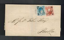 1873 Veracruz Mexico Cover to Puebla