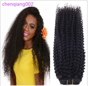 "8""-30"" 100G/1Bundle Kinky Curly Human Hair Extensions Brazilian Human Hair Weave"