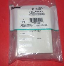 Panduit  6-Port Mini-Com Surface Mount Box  OFF WHITE  CBXD6IW-AY NEW