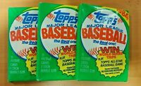 3 TOPPS 1984 Baseball UNOPENED Wax Packs! Don Mattingly, Tony Gwynn, Cal Ripken
