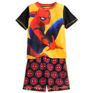 Disney Store Spider Man Short Sleep Set Boys Pajamas PJ's Size 3 New