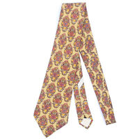 SALVATORE FERRAGAMO Dream Catcher Native American Indian Fox Mens Silk Neck Tie
