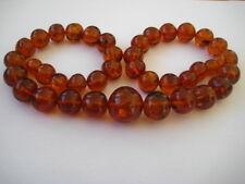 Bernsteinkette Baltic Amber Necklace Cognac Beads Balls