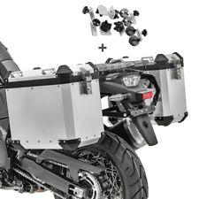 Alukoffer Set für Honda Africa Twin CRF 1000 L Seitenkoffer GX45 silber