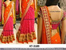 INDIAN DESIGNER PARTY WEAR SARI WEDDING BRIDAL STYLISH TRADITIONAL SARI KT-3189
