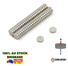 100x Strong N50 5mm x 2mm Rare Earth Disc Magnets | Neodymium Model Fridge Round
