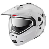CABERG TOURMAX METAL WHITE FLIP FRONT MOTORCYCLE SPORTS HELMET