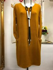 """ITALIAN Quirky Boho Wool Knitted Jumper-Dress Size 14-16-18 Up to Bust 48"""""""