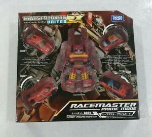 Transformers United EX05 Racemaster Prime Mode Autobot Vanguard Takara Tomy 2012