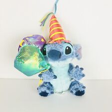 Disney Store Lilo & Stitch Birthday Balloons And Hat Party Beanie Plush 8""