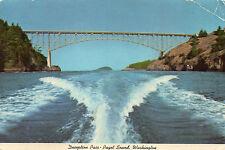 postcard   USA   Deception Pass Pugent Sound Washington posted