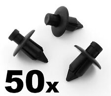 50x Toyota Black Plastic Trim Clips- For some interior fascias, dashboard panels