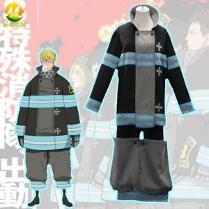 Fire Force Cosplay Costume Shinra Kusakabe Arthur Fire Brigade Uniform for Men