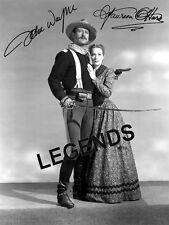 "John Wayne & Maureen O'Hara  ""RIO GRANDE""  AUTOGRAPHED  8x10 B&W Reprint"