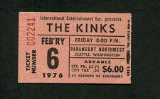 1976 Kinks concert ticket stub Paramount Seattle You Really Got Me