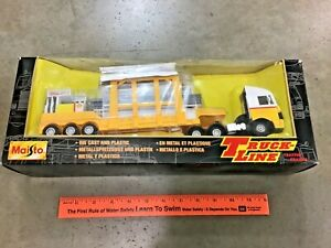 Vintage Maisto Truck Line 1/43 semi truck & Shell Gas Station load FREE Shipping