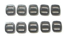 13mm Triglide Black Plastic 3 Bar Slides x 10 For Webbings,Tapes,Bags,Straps