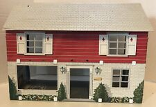Vintage 1974 Marx Tin Doll House Metal Litho Two Story Colonial