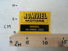 STICKER,DECAL ROMVIEL MOTORS BOEKEL MOTO ? B