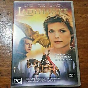 Ladyhawke DVD R4 VERY GOOD – FREE POST