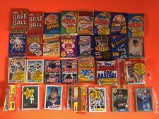 1981-95 TOPPS FLEER DONRUSS Baseball 24 SEALED WAX CELLO RACK PACK LOT 1984 RC