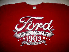 Ford Motor Company 1903 Deerborn Mich Red Distressed Style Gildan 2XL T-Shirt