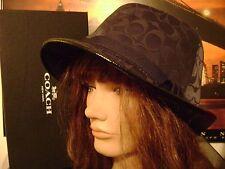 DESIGNER-COACH FEDORA HAT-Women's Medium- OFFICIAL-COACH NY. With Box & Bag