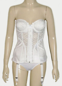 Frederick's of Hollywood, Strapless Underwire Lightly Lined  Corset Bustier Bra