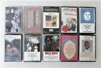 10x Music Cassettes John Lennon Miles Davis Billie Holiday Keith Jarrett Job Lot