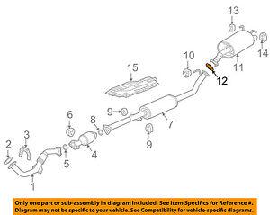 HONDA OEM Exhaust System-Muffler Gasket 18303SP0003