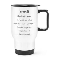 Brexit The Undefined Travel Mug Cup With Handle Funny Joke Britain Europe EU
