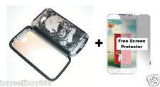 Skull Hybrid Phone Cover Case for LG Optimus L90 / D415 + Free Screen Protector