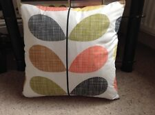 Handmade Double Sided Cover in Orla Kiely Multi Scribble Stem FABRIC 40x40