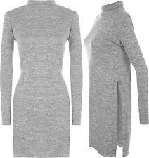 Patternless Collar Long Sleeve Dresses for Women