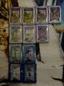Digimon Metal Cards from Taco Bell 2000 Lot of 11