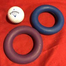 "2 Rubber Ring 3.5"" Hard Wearing Tough Exerciser Interactive Fetch Throw Retrieve"