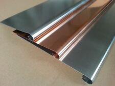 1m Zinkblech,RHEINZINK vorbewittert oder Kupferblech mit Wulst- 0,7mm & 0,6mm
