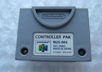 Official Nintendo 64 N64 OEM Video Game Memory Card Controller Pak Pack SAVES