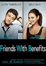Friends With Benefits  DVD (2011) Justin Timberlake, Mila Kunis,