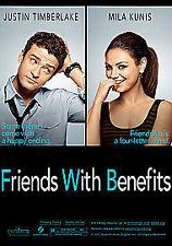 Friends With Benefits  DVD (2011) Justin Timberlake, Mila Kunis,