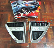 2 X CHROME SIDE VENT MAZDA BT-50 PRO 2012 NEW HI - RIDER FENDER TRIM SURROUNDS