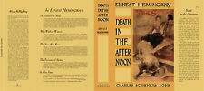 Ernest Hemingway DEATH IN THE AFTERNOON facsimile dust; NO BOOK, fac. DJ ONLY!