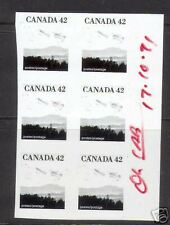 Canada #1356 Imperforate Block Essay Variety Of Six